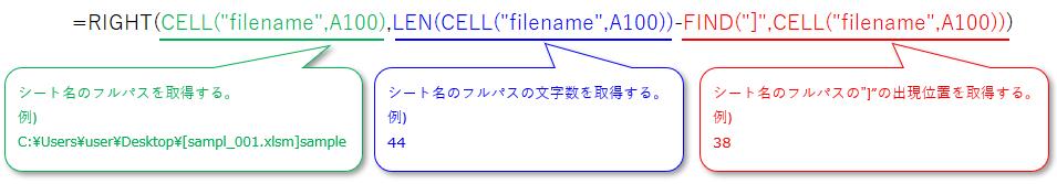 シート名を取得するExcel関数